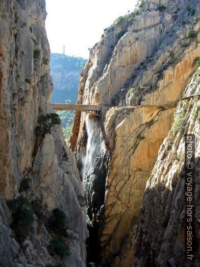 La Garganta del Chorro et le pont de la conduite forcée . Photo © André M. Winter