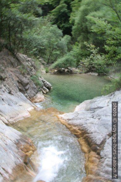 Trous d'eau dans les Gorges du Paillon de Contes. Photo © André M. Winter