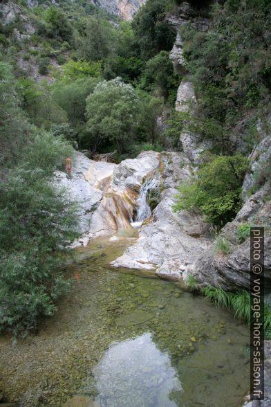 L'eau dans les Gorges du Paillon de Contes. Photo © André M. Winter