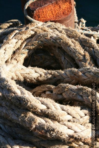 Amarres d'attache de bateaux. Photo © Alex Medwedeff