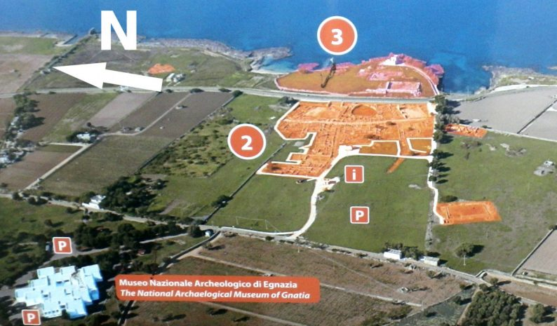 Photo aérienne annotée d'Egnazia