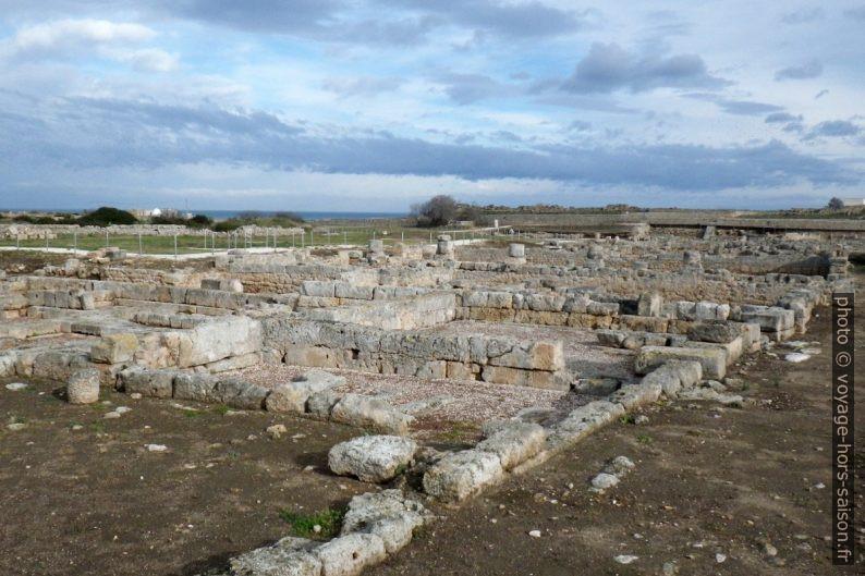 Quartiers résidentiels de la ville romaine d'Egnazia. Photo © André M. Winter