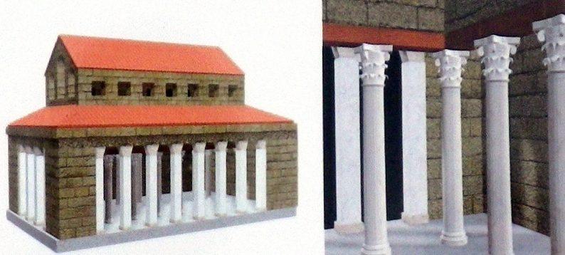 Schéma de la la basilique civile d'Egnazia