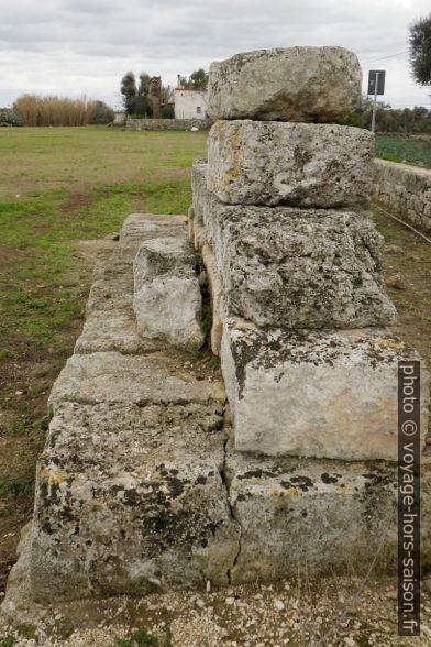 Fortification messapienne à Egnazia. Photo © André M. Winter