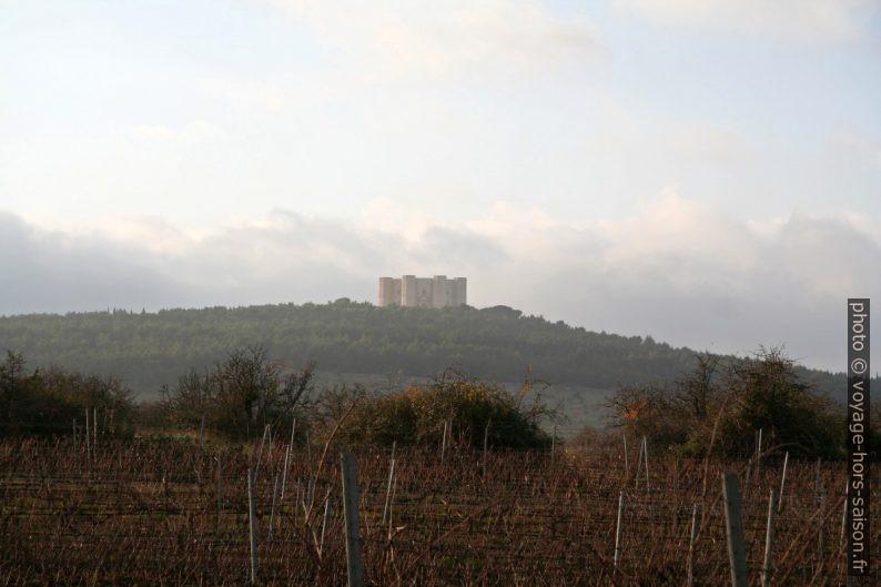 Castel del Monte vu de loin. Photo © André M. Winter