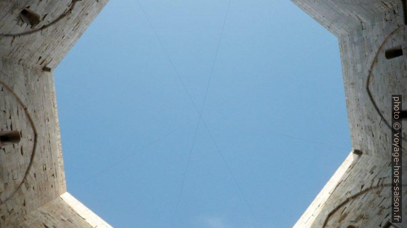 Vue verticale de la cour intérieure du Castel del Monte. Photo © André M. Winter
