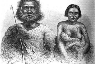 """""""Australie du sud -Types indigènes"""". Dessin de G. Fath d'après Petermann"""