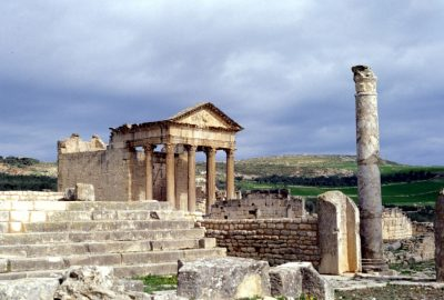 Le capitole de Dougga. Photo © André M. Winter