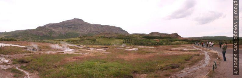 Partie basse de la zone Haukadalur. Photo © André M. Winter