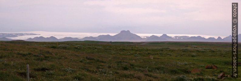 Panorama du Langjökull. Photo © André M. Winter