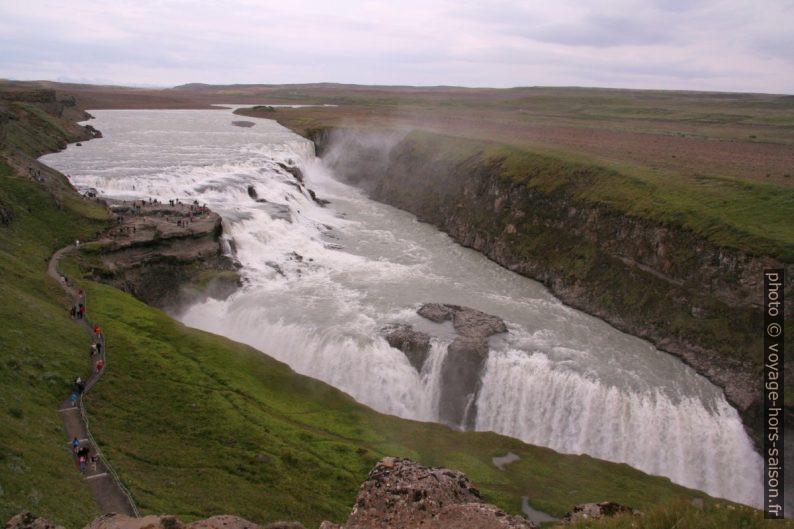 La double cascade du Gullfoss. Photo © André M. Winter