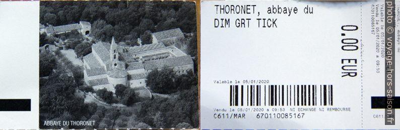 Ticket gratuit pour l'Abbaye du Thoronet. Photo © André M. Winter