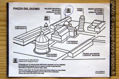 Recto de la carte pour la visite de la Tour de Pise pour deux personnes en 2020. Photo © André M. Winter