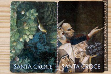Recto de deux ticket de l'église Santa Croce à Florence. Photo © André M. Winter