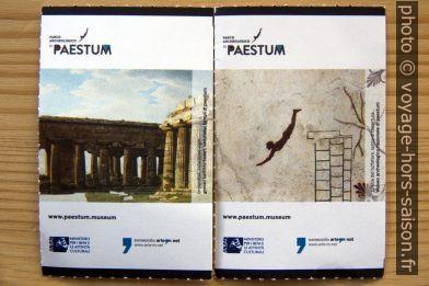 Tickets du musée de Paestum. Photo © André M. Winter