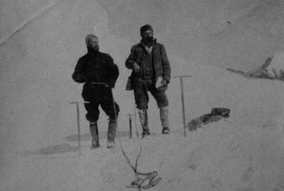 Scipione Borghese et Matthias Zurbriggen au col d'Ak-Moïnok. Photo CCNCSA Jules Brocherel, Società Geografica Italiana Onlus