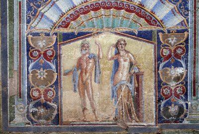 Mosaïque montrant Neptune et Amphitrite dans une villa d'Herculaneum. Photo © André M. Winter