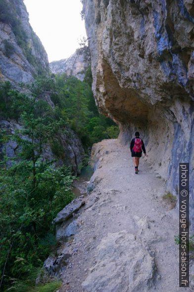 Chemin creusé dans la paroi rocheuse. Photo © André M. Winter