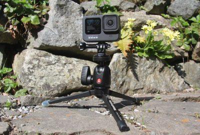 GoPro 9 sur trépied Manfrotto. Photo © André M. Winter