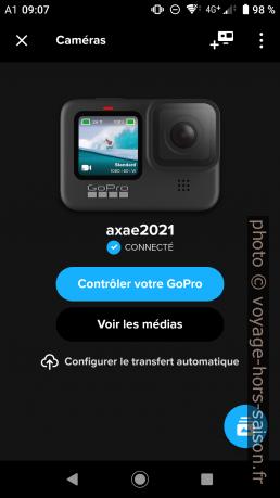 L'application GoPro Quik. Photo © André M. Winter