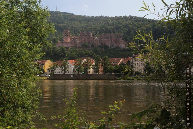 La château vu de la rive nord du Neckar. Photo © André M. Winter
