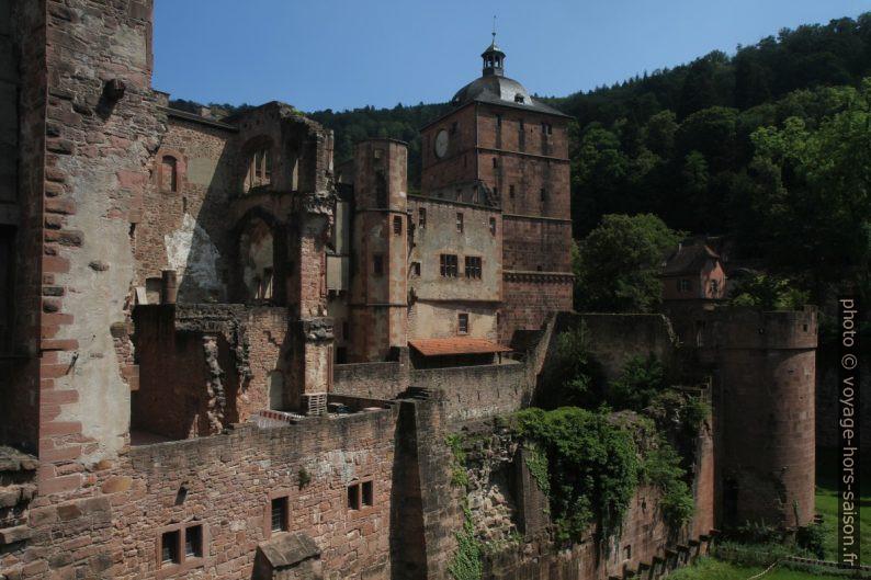 Les parties les plus anciennes du château de Heidelberg. Photo © Alex Medwedeff