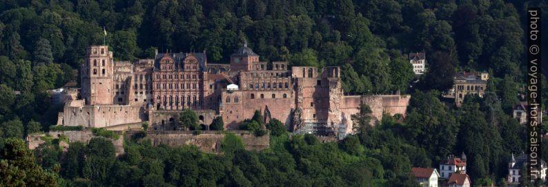Le château de Heidelberg vu des collines au nord du Neckar. Photo © André M. Winter