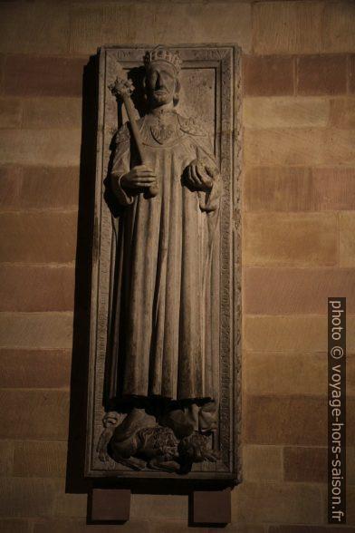 Plaque funéraire de Rudolf de Habsbourg. Photo © Alex Medwedeff