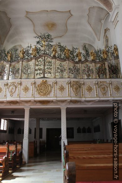 L'étage des nonnes dans l'église d'Inzigkofen. Photo © Alex Medwedeff