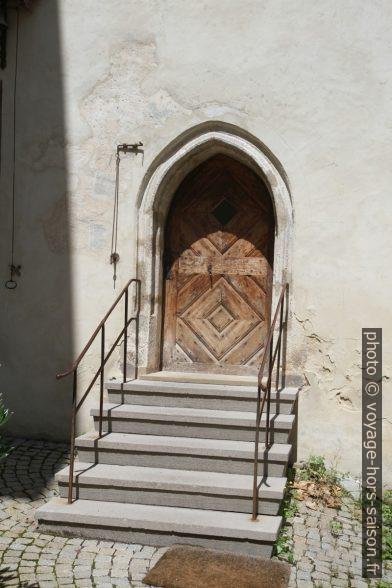 Une porte d'une maison de l'ensemble conventuel d'Inzigkofen. Photo © Alex Medwedeff