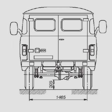 UAZ 542 de derrière