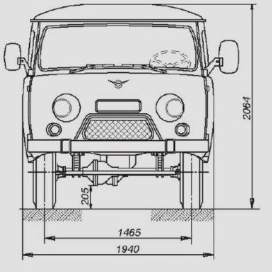 UAZ 542 de devant