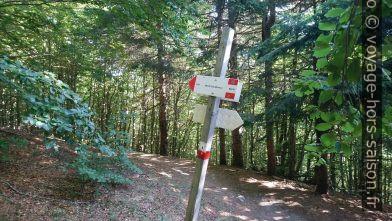 Panneau indicateur sur le chemin du Cavalbianco. Photo © André M. Winter