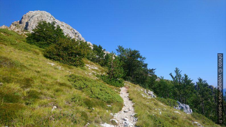 Vue du col Foce di Giovetto vers le Pico d'Uccello. Photo © André M. Winter
