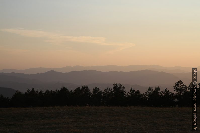 Fin de soirée au Monte Argegna. Photo © Alex Medwedeff