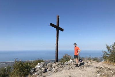André sur le Monte Gabberi. Photo © Alex Medwedeff